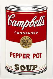Andy Warhol Pepper Pot Soup Can Screenprint 1968