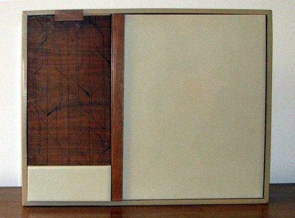 509: Mid Century Wooden Desk Organizer