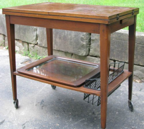 510: Mid Century Modern Bar with Fold Out Top, Bottle H