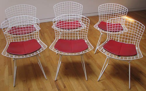 515: 6 Bertoia Wire Chairs for Knoll