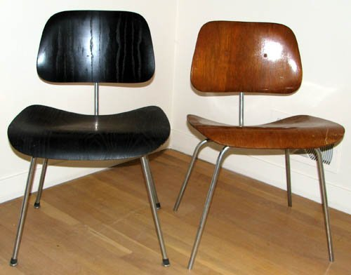 519: Pair of Eames DCM Chairs