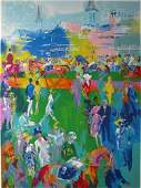 721: LeRoy Neiman Derby Day Paddock signed serigraph