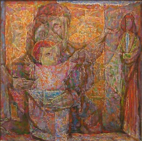 742: Samuel Rosenberg Emergence II painting