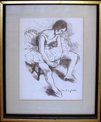 762: Moses Soyer lithograph Ballerina