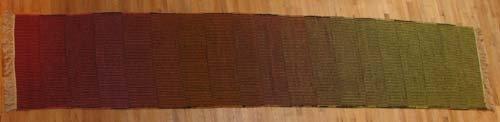 502: Rose Bank Stunning Modernist Weaving/Runner
