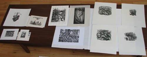 12: 11 various wood engravings by Mackley, Haddrell, an