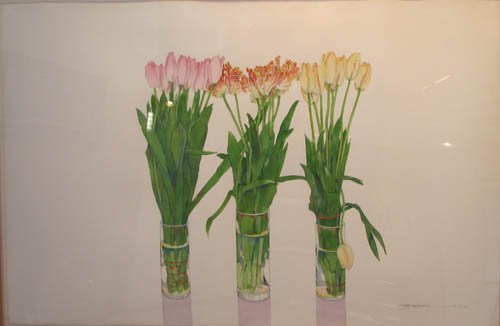 kitchen cabinets from china 229 gary bukovnik watercolor 3 vases of tulips 20424