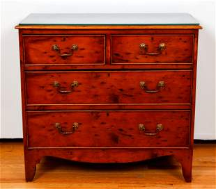 Small Elm Wood Chest of Drawers