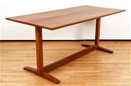 Style of George Nakashima Cherry Trestle Dining Table