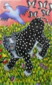 Marie Kelly Leopard Painting on Paper