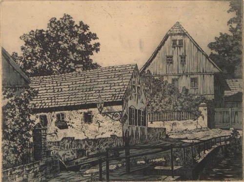 504: H. Blouhschmidt antique etching and aquatint