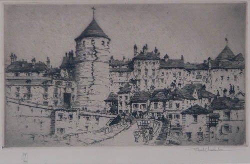 506: Samuel Chamberlain Semur-en-Auxois etching