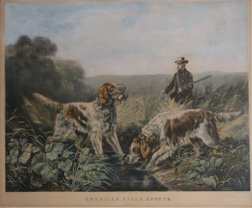 507: Currier and Ives American Field Sports: Retrieving