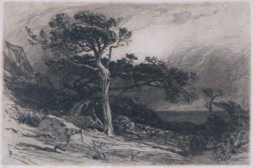 512: Haden Egham Lock etching w/J.D. Smillie etching