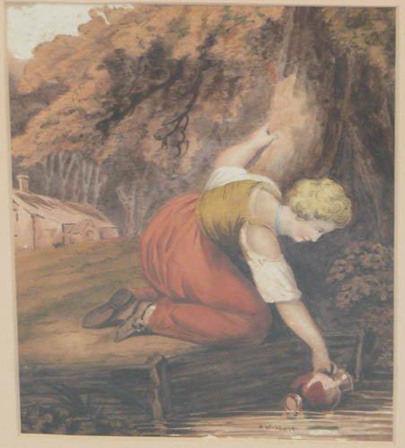 513: Alfred William Hunt British watercolor