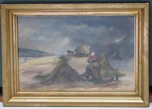 519: J McKendricks watercolor Field Workers