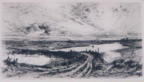 521: Thomas Moran Morning 1880 etching