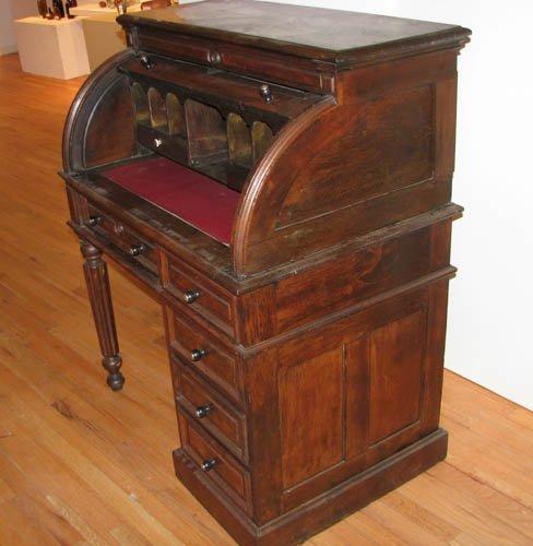 523: Victorian Roll Top Desk, circa 1860