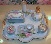 796 Handpainted French Limoges porcelain dresser set