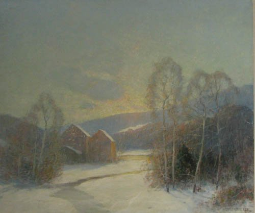 797: Ernest Albert ptg. Old Red Barn