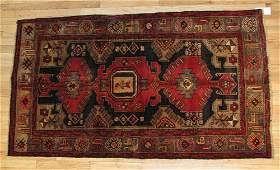 828C Semi Antique Persian Zanjan Carpet