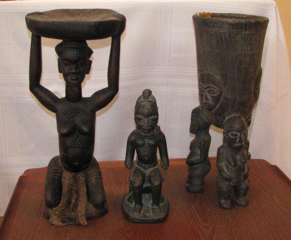1: 3 African Ancestor sculptures