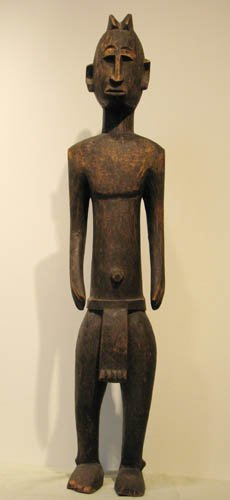 6: African Carved Wood Sculpture of a Man