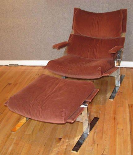 13: Saporiti Chrome Lounge and Ottoman