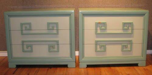 """15: Pair of Kittinger 3 drawer """"Mandarin"""" chests"""