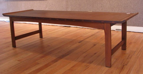 80: Lane Company Modern Walnut Coffee Table - 3