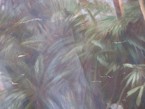 192: KK Hebbar Landscape with Rickshaw-Puller painting - 3