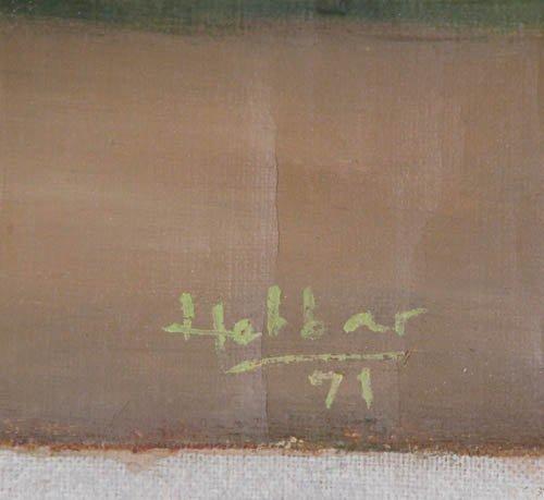 192: KK Hebbar Landscape with Rickshaw-Puller painting - 4