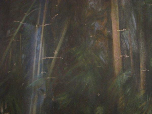 192: KK Hebbar Landscape with Rickshaw-Puller painting - 7