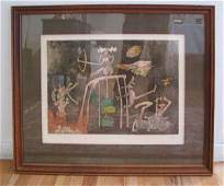 234 Roberto Matta orig aquatint and Etching Nobel Priz