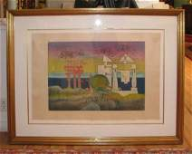 235 Roberto Matta orig aquatint and Etching Surrealist