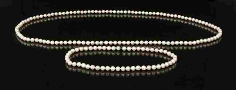 Dual Length Cultured Pearl Necklace