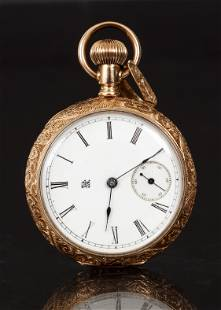 Antique Ladies Durant and Rogers 14K Pocket Watch