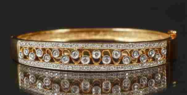 Ladies 14K Diamond Bracelet