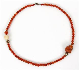 Ruth Frank Amber Bead Necklace