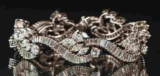 Ladies Diamond 18K White Gold Bracelet 14.75ct