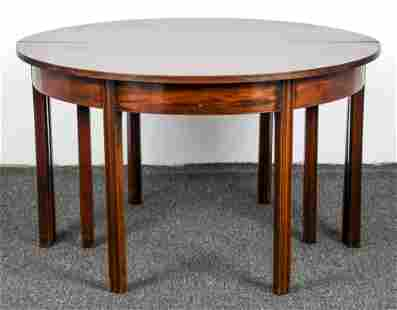 Pair mahogany Chippendale Demi Lune Banquet Tables