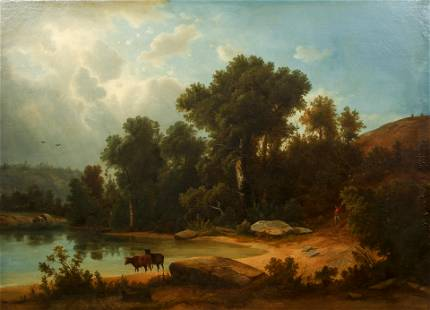 19th Century European School Idyllic Landscape