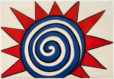 Alexander Calder 1975 orig litho L'etoile