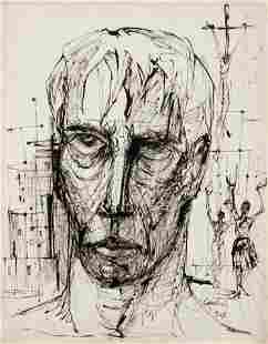 Virgil Cantini Pontius Pilate ink drawing
