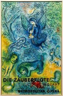 Marc Chagall The Magic Flute Zauberflote Poster 1967