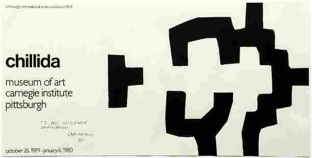 Eduardo Chillida signed poster for 1979 Carnegie