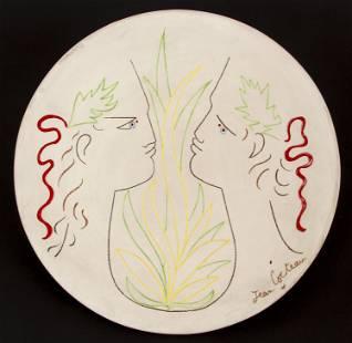 Jean Cocteau Orphee et Eurydice Ceramic Plate 1/25