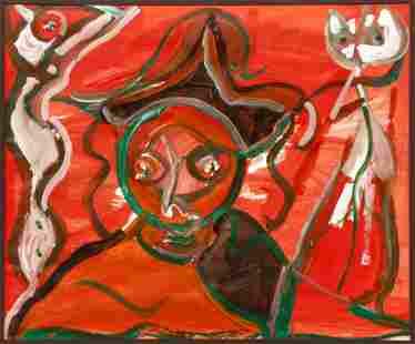Herbert Gentry I'll Take the Cat 1973 Painting