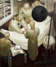 Roy Hilton 1943 painting The Laparotrachelotomy