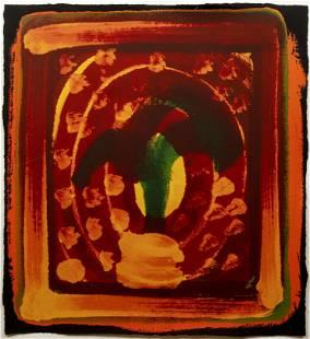 Howard Hodgkin 1980 orig serigraph Still Life